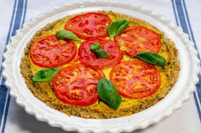 Рецепт пирога с помидорами и сыром тофу